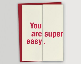 Funny Birthday Card / Funny Valentine's Day Card - Super Easy