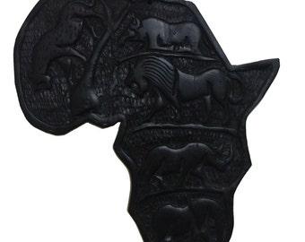 Africa Hanging Wood Sculpture