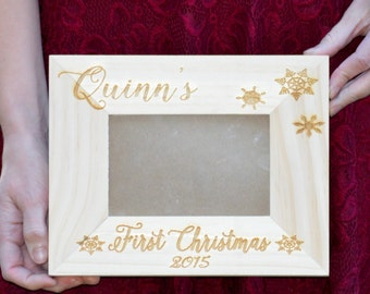 Personalized Baby's First Christmas Frame,  Custom Picture Frame, First Christmas as Grandparents, Home Decor, Personalized Gift For Newborn