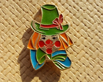 Clown Pin - Soviet Vintage Clown Pin Made in USSR in 1970s.