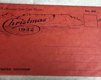 A message from Cape Town Christmas 1942 No. 30 Illustrated Souvenir Silver Leaves Mount Rhodes Estate , Hout Bay