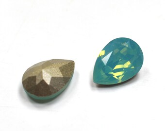 Swarovski 14x10mm Pear Shape 4320 Pacific Opal 1 Piece