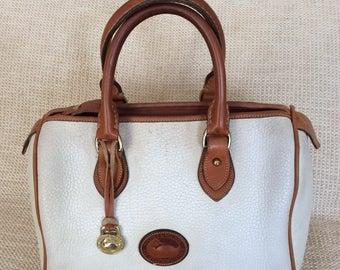 Genuine vintage DOONEY & BOURKE white leather satchel bag AWL speedy