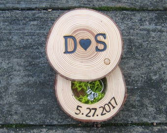 Ring Box, Wood Ring Box, Wedding Gift For Her, Engagement Ring Box, Wooden Ring Box