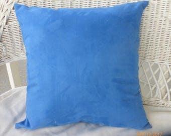 Dark Blue Suede cloth pillow cover - Suede pillow cover - pillow cover - Accent pillow - pillow cover 18x18 - Blue pillows