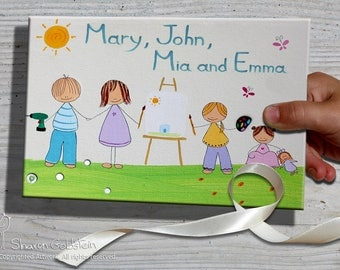 Personalized FRONT door signs, FAMILY personalized door sign, Customized door sign