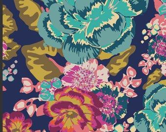 Art Gallery Fabric KNITS / Acqua di Rose Boho/Boho Fusions/ Saturated Floral Knit Fabric/REWARDS program for multiple yardage