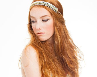 FESTIVAL CAPSULE COLLECTION // Hale Fringe Tasseled Crystal Headband /Necklace. Festival fashion hair accessories, choker
