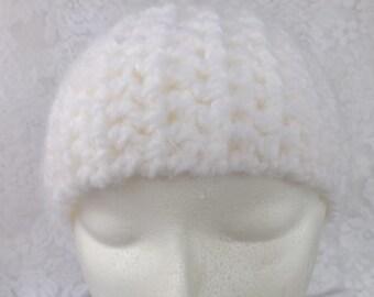 Crochet earwarmer white ear warmer angel hair crochet headband white crochet head band
