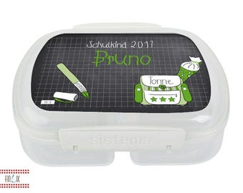 Name lunch box for school children