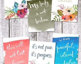 Watercolor Birth Affirmations
