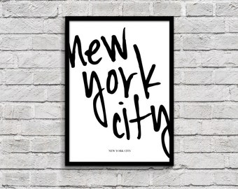 new york city - 8.5 x 11 already framed quote lyric art, wall art, print dorm room decor manhattan brooklyn queens bronx staten island