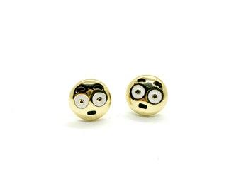 SALE - emoji jewelry - Shocked Emoji Earring Studs