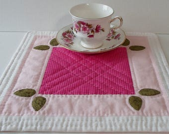 Handmade Table Topper Cotton Quilted Placemat OOAK