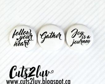 "3 Badges 1"" Gather"