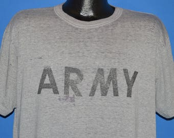 80s United States Army Distressed t-shirt Extra Large
