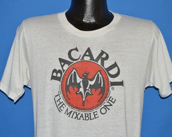 80s Bacardi Rum The Mixable One t-shirt Medium