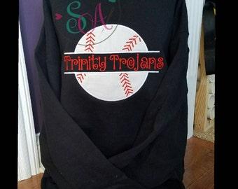 Personalized baseball sweatshirt