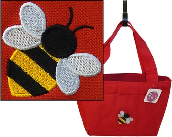 Baby Bee School Lunch Bag Cooler Tote Custom Embroidered