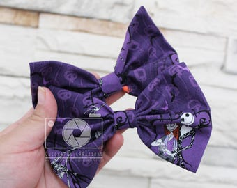 Nightmare Before Christmas Hair Bow, Hair Accessories