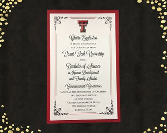 Qty. 25 Spanish College Graduation Invitations Announcements