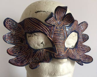 Dragonfly Leather Mask