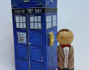 Dr. Who & Tardis Peg Doll Set