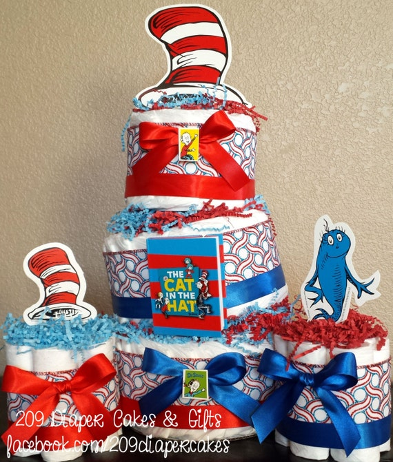Dr Seuss Cat Hat Cake Topper Centerpiece
