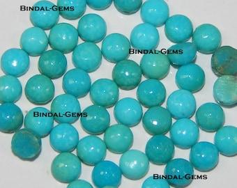 25 Pieces Lot Arizona Turquoise Round Shape Gemstone Loose Cabochon