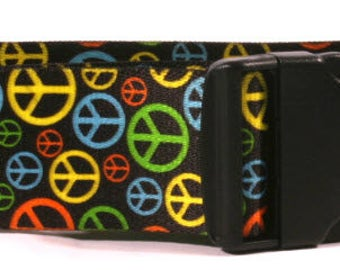 Neon Peace Signs 2 inch wide collar