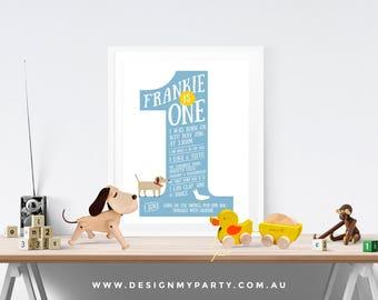 One Year Old Milestone (Personalised DIY Printables)