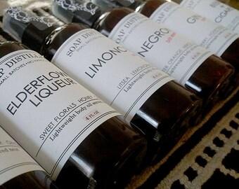 Body Oils - Negroni Bourbon Lavender Bitters Elderflower Liqueur Gin Limoncello Beer + Cigarettes Alcohol Free VEGAN- NEGRONI WEEK