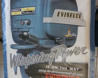 Vintage Evinrude Outboard Motor Banner