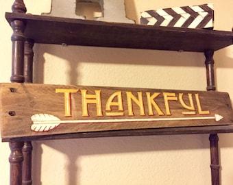 THANKFUL pallet wood sign