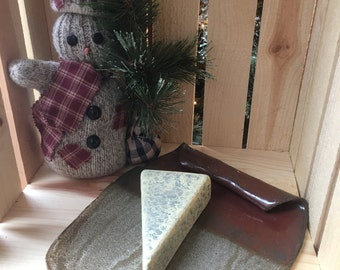 Cheese tray oak leaf acorn cheese knife gift set