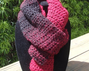 Marled Ombre Crochet Scarf