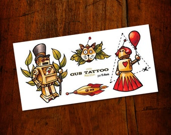 Temporary Tattoos - Meet the Robots – by Gus Tatoo