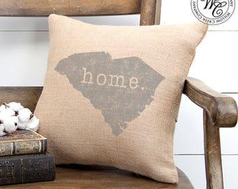 South carolina gift etsy south carolina home pillow south carolina pillow home pillow personalized pillow south negle Image collections