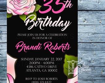 Custom Birthday Party Invitation - 5X7 - Birthday Invitation - Printable Invitation - Digital Invitation - Custom Invitation - Evite - DIY