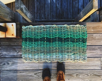 Recycled Lobster Rope Doormat, Handwoven in Maine: Isle Au Haut
