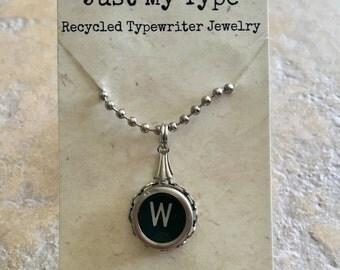 Vintage Typewriter Key Necklace - W
