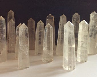 Clear Quartz Point, Crystal Tower, Master Crystal,Healing Stone, Healing Crystal, Chakra  Stone, Spiritual Stone