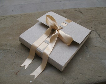 Wedding photo album satin ribbon made in italy