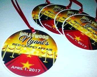 Red Carpet Favor Tags
