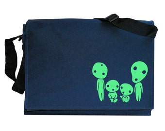Kodama Family Glow in the Dark Navy Blue Messenger Shoulder Bag