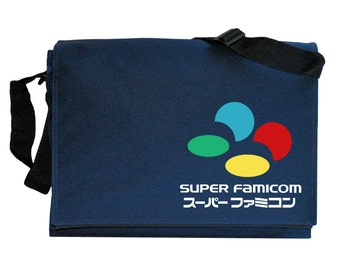 SNES Super Famicom Tribute Navy Blue Messenger Shoulder Bag