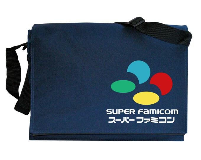 SNES Super Famicom Tribute Navy Blue Messenger Shoulder Bag