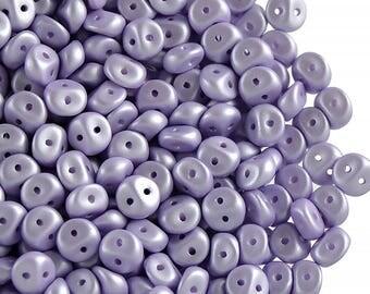 50 pcs Es-O bead ® 5 mm, Czech Glass, Alabaster Powder Light Purple  (ES029)