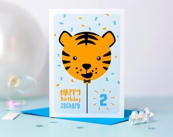 Boy's Birthday Card // Children's Birthday Card // Girl's Birthday Card // Boy's Personalised Birthday Card