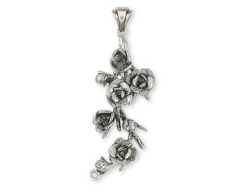 Magnolia Pendant Jewelry Sterling Silver Handmade Flower Pendant MGS2-P